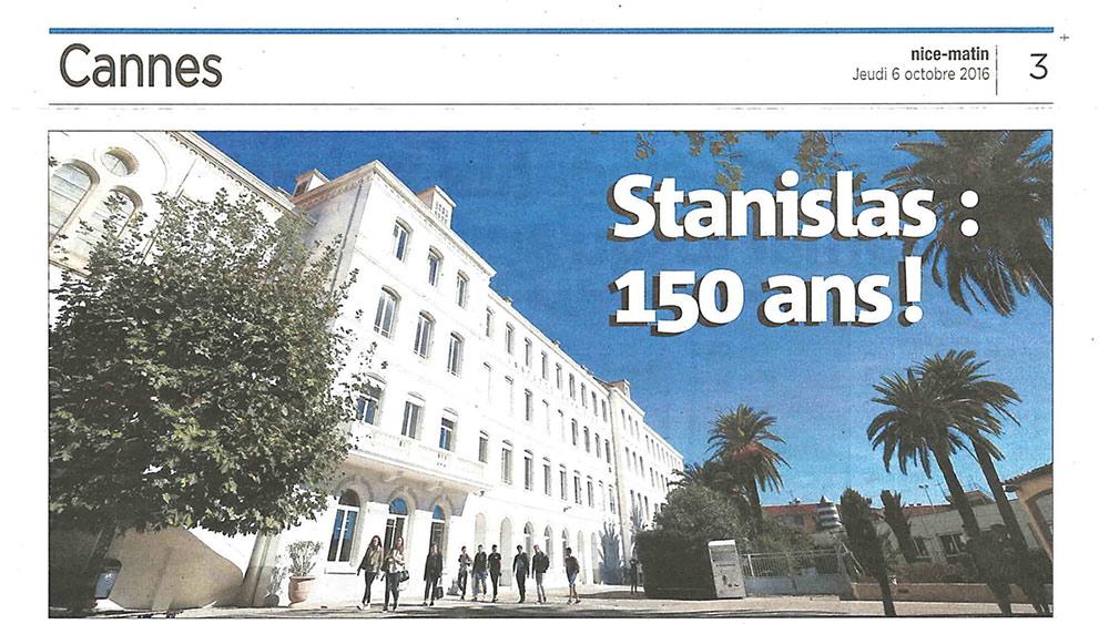Stanislas cannes 150 ans stanislas dans nice matin for Dans 150 ans